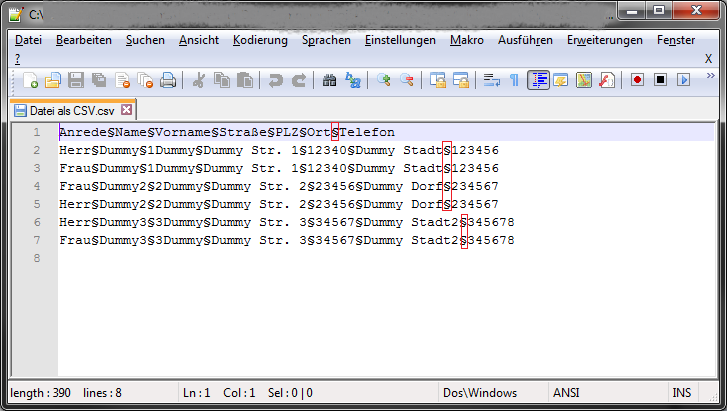 Csv Datei Erstellen