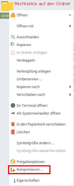 Wie kann ich RAR-Archive unter Linux Mint erstellen? - Dateien